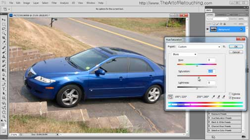 Photoshop CS5.5 Tutorial - Hue and Saturation Adjustment Palette