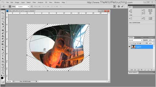 Photoshop CS5.5 Tutorial - Transform Tools