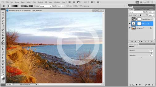 Photoshop CS5.5 Tutorial – Vibrance vs. Saturation